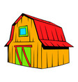 wooden barn icon cartoon vector image