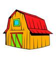 wooden barn icon cartoon vector image vector image