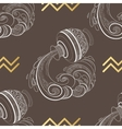 Zodiac sign Aquarius Horoscope vintage seamless vector image vector image