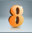 3d eight icon vector image