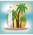 beautiful summer landscape icon vector image