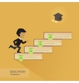 Education infographic with colorful books element vector image