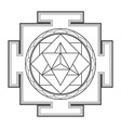 monocrome outline merkaba yantra vector image