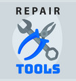 repair tools pliers wrench icon creative graphic vector image
