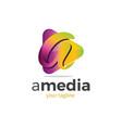 a media logo vector image vector image