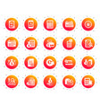 accounting icons set of calculation check vector image vector image