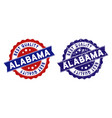 alabama state best quality stamp with dirty style vector image