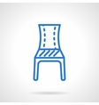 Blue chair line icon