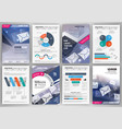 brochure template and infographics vector image vector image