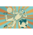 Businessman with telephone in space vector image vector image
