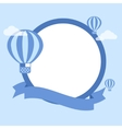 Cartoon Hot Air Balloon - Background vector image