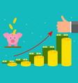 cartoon retirement money concept card poster vector image