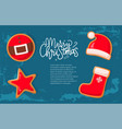 christmas holiday banner gingerbread cookies vector image vector image