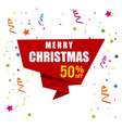 christmas sale with white background vector image vector image