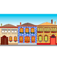 City Town Houses vector image vector image