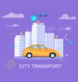 city transport gps navigator car destination vector image vector image