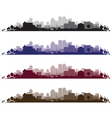 cityscape wide set vector image vector image