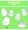 Coloring page Easter vector image vector image