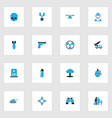 combat colorful icons set collection gun vector image vector image