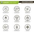 Concept Line Icons Set 5 Biology vector image
