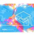 Creative academic cap Art vector image vector image