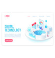 digital and internet technology landing page vector image vector image