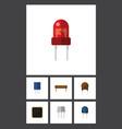 flat icon electronics set of resist bobbin vector image vector image