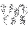 Floral and decorative vintage design elements vector image vector image