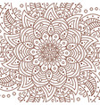 flower mandala decorative elements coloring book vector image vector image