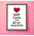 Fun Valentines Day card design vector image vector image