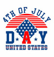 graphic independence day united states vector image vector image