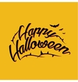 Halloween lettering greeting card EPS 10 vector image vector image