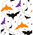 hand drawn seamless halloween pattern with vector image vector image