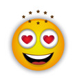 happy and passionate emoticon vector image vector image