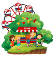 happy children having popsicles vector image vector image