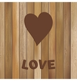 Heart in wood background template EPS8 vector image vector image