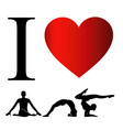 I love yoga and meditation vector image vector image