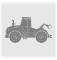 icon with farm tractor vector image vector image
