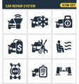 Icons set premium quality of car repair system vector image