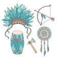 indian life american native hero attributes vector image