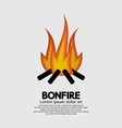 Isolated Bonfire Graphic vector image vector image