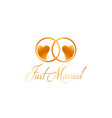 just married rings design vector image vector image