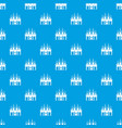 kingdom palace pattern seamless blue vector image vector image