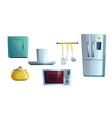 kitchen furniture elements for interior creating vector image