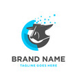 logo design iron processing technology vector image