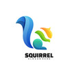 logo squirrel gradient colorful style vector image