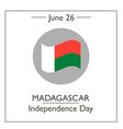 madagascar independense day vector image