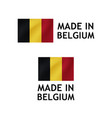 made in belgium label tag template vector image vector image