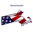 Massachusetts full american flag waving