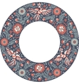 Mexican embroidery round frame pattern vector image vector image